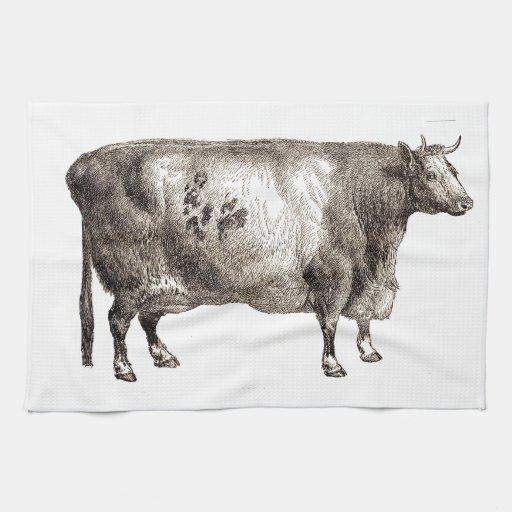 Mis bóvidos del mascota (Bull o vaca) Toalla De Mano