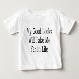 Mis buenas miradas me tomarán lejos en vida tshirts