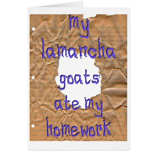 Mis cabras de LaMancha comieron mi preparación Tarjeta De Felicitación