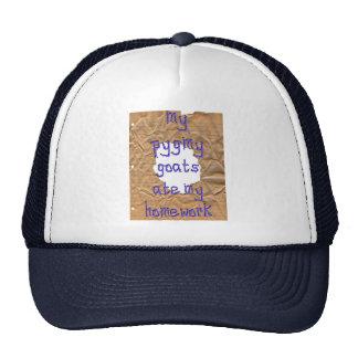 Mis cabras enanas comieron mi preparación gorras de camionero