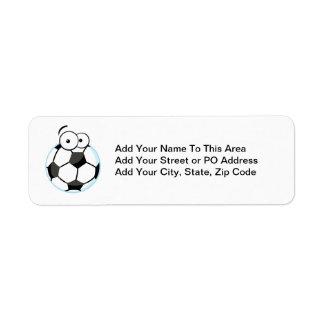 Mis camisetas y regalos de la cara del fútbol etiquetas de remite