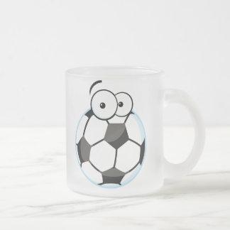 Mis camisetas y regalos de la cara del fútbol taza de cristal