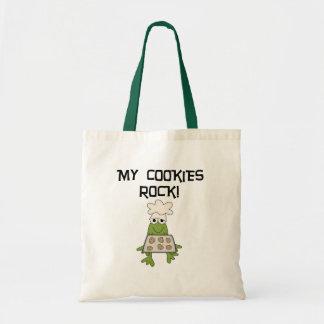 Mis camisetas y regalos de la roca de las galletas bolsa tela barata