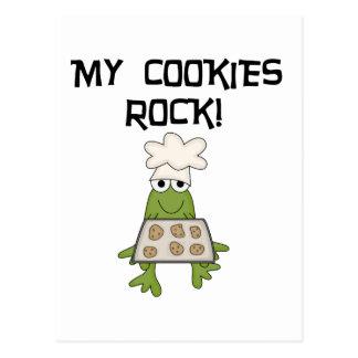 Mis camisetas y regalos de la roca de las galletas postal