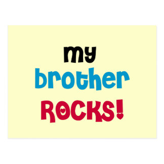 Mis camisetas y regalos de las rocas de Brother Postales