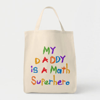 Mis camisetas y regalos del super héroe de la mate bolsas de mano