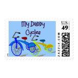Mis ciclos del papá--Niños Biking las camisetas Envio
