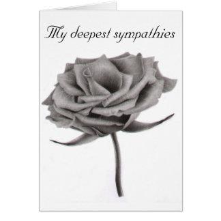Mis condolencias más profundas subiós felicitación