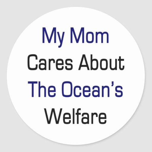 Mis cuidados de la mamá sobre el bienestar del océ pegatina