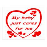 Mis cuidados del bebé apenas para mí tarjetas postales