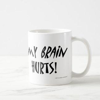¡Mis daños del cerebro! Tazas De Café