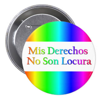 Mis Derechos No Son Locura - Mexican Gay Marriage Pinback Button