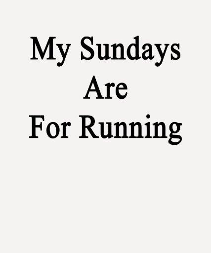 Mis domingos están para correr camisetas