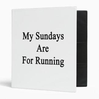 Mis domingos están para correr