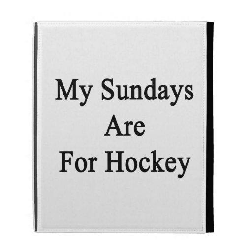 Mis domingos están para el hockey