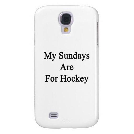 Mis domingos están para el hockey funda para galaxy s4