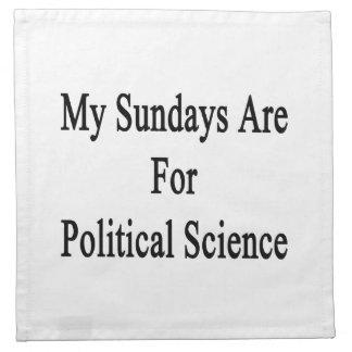 Mis domingos están para la ciencia política servilletas imprimidas
