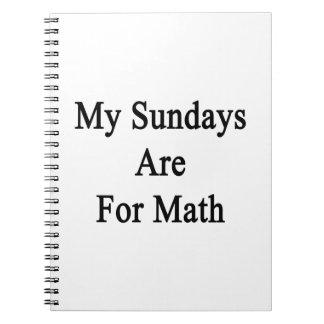 Mis domingos están para la matemáticas libros de apuntes con espiral