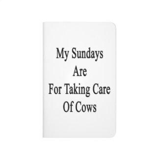 Mis domingos están para tomar el cuidado de vacas cuaderno