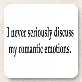 Mis emociones románticas posavasos de bebida