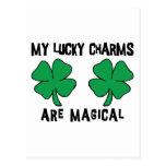 MIS encantos afortunados son mágicos Postal
