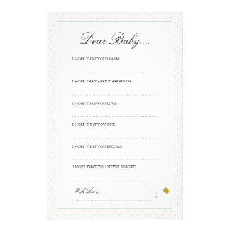 Mis estimadas tarjetas del bebé del globo el | papeleria personalizada