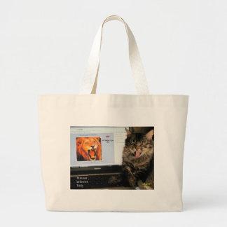 Mis estudios del gato en el MIT Bolsa Tela Grande
