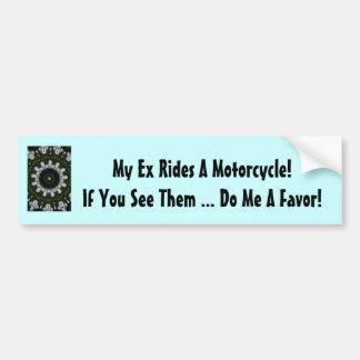 ¡Mis ex paseos una motocicleta! Pegatina Para Auto