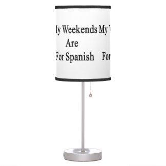 Mis fines de semana están para el español