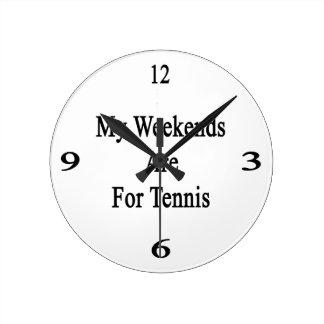 Mis fines de semana están para el tenis