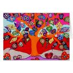 Mis flores del corazón para usted árbol de la vida tarjeton