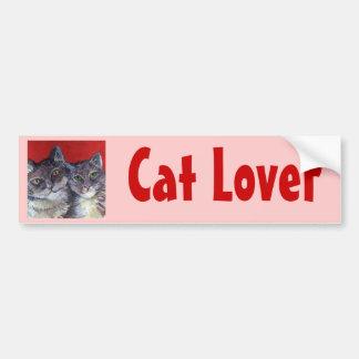 Mis gatos de Tabby hermosos Etiqueta De Parachoque