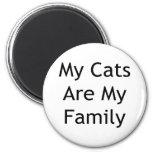 Mis gatos son mi familia imán