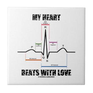 Mis golpes de corazón con el amor (electrocardiogr tejas  cerámicas