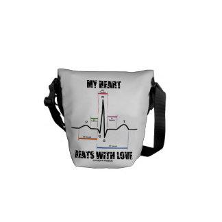 Mis golpes de corazón con el amor (electrocardiogr bolsa de mensajeria