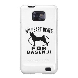 Mis golpes de corazón para Basenji Samsung Galaxy SII Carcasas