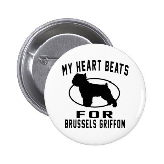 Mis golpes de corazón para Bruselas Griffon. Pin Redondo 5 Cm
