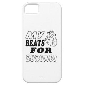 Mis golpes de corazón para Burundi iPhone 5 Case-Mate Cárcasas