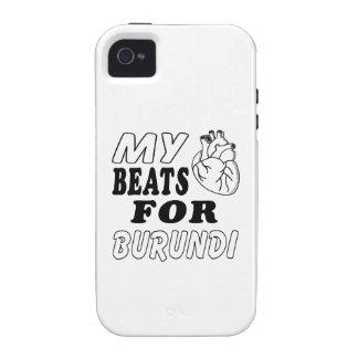 Mis golpes de corazón para Burundi iPhone 4 Fundas