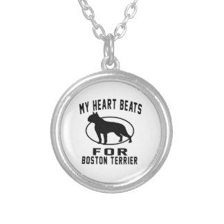 Mis golpes de corazón para el terrier de Boston Colgante Redondo