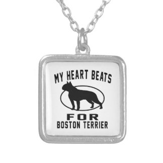 Mis golpes de corazón para el terrier de Boston Colgante Cuadrado