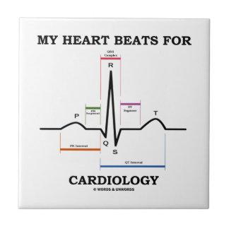 Mis golpes de corazón para la cardiología (ECG/EKG Azulejos