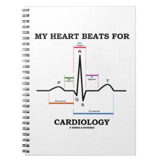 Mis golpes de corazón para la cardiología (ECG/EKG Libros De Apuntes Con Espiral