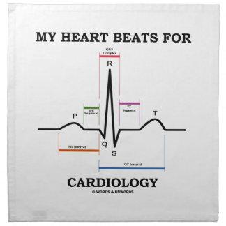 Mis golpes de corazón para la cardiología (ECG/EKG Servilleta