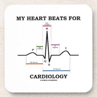 Mis golpes de corazón para la cardiología posavasos de bebida