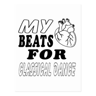Mis golpes de corazón para la danza clásica tarjetas postales