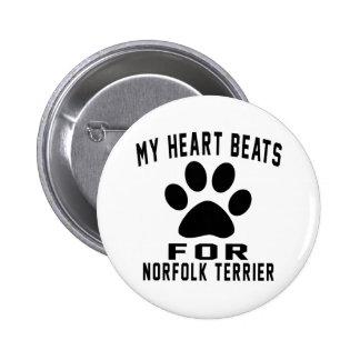 MIS GOLPES de CORAZÓN PARA Norfolk Terrier Chapa Redonda 5 Cm