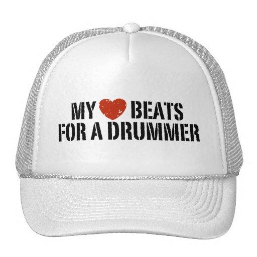 Mis golpes de corazón para un batería gorra