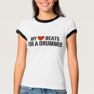 Mis golpes de corazón para un batería playera