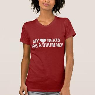Mis golpes de corazón para un batería camiseta